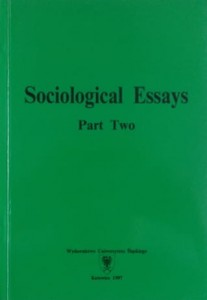 Sociological Essays. Part Two